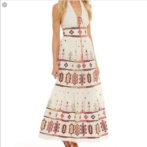 *Chelsea and violet* boho embroidered halter maxi